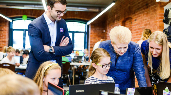 'Sourcery Academy for Kids' gets a presidential visit