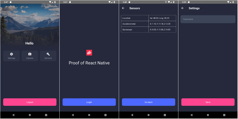 React Native render