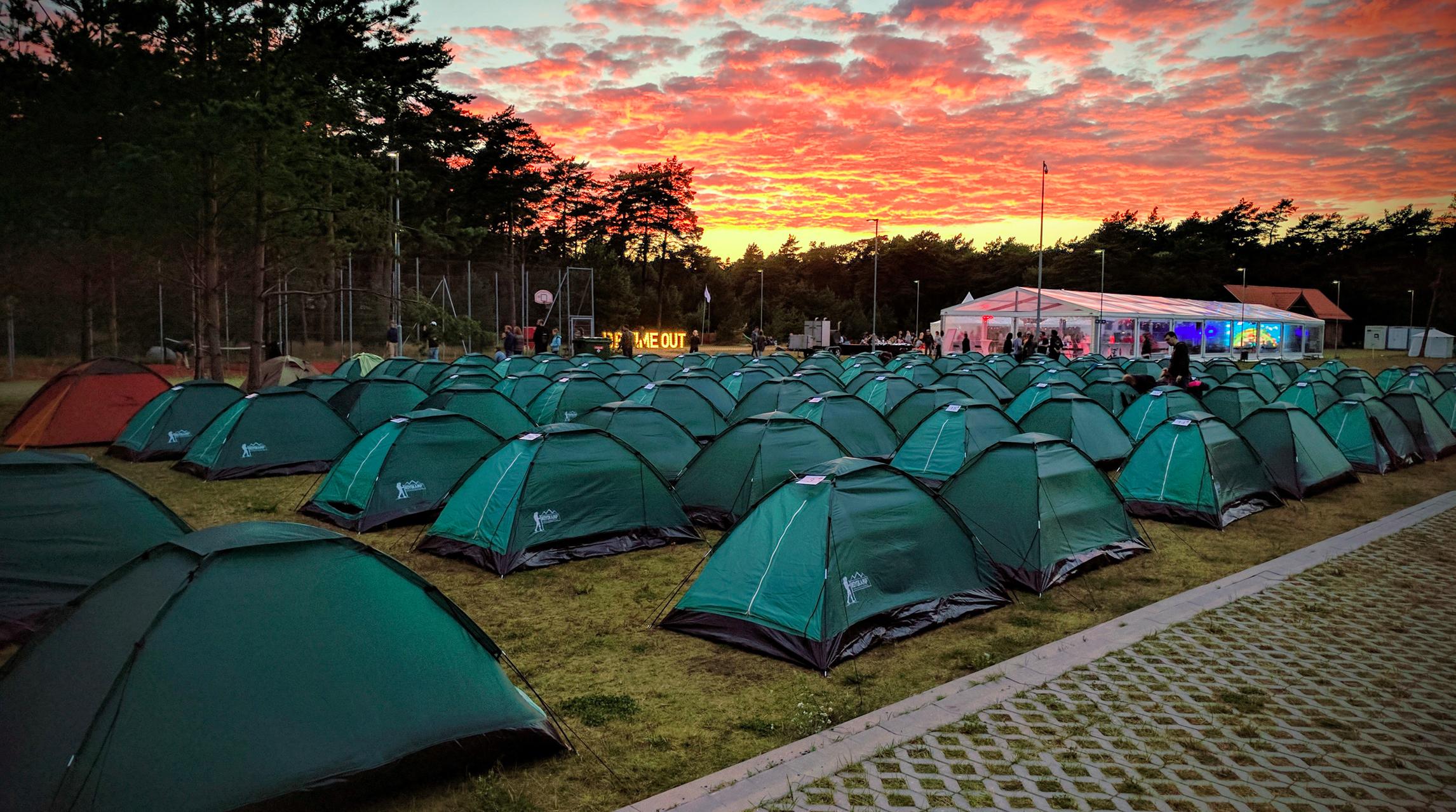 Devbridge camp site in Palanga, Lithuania