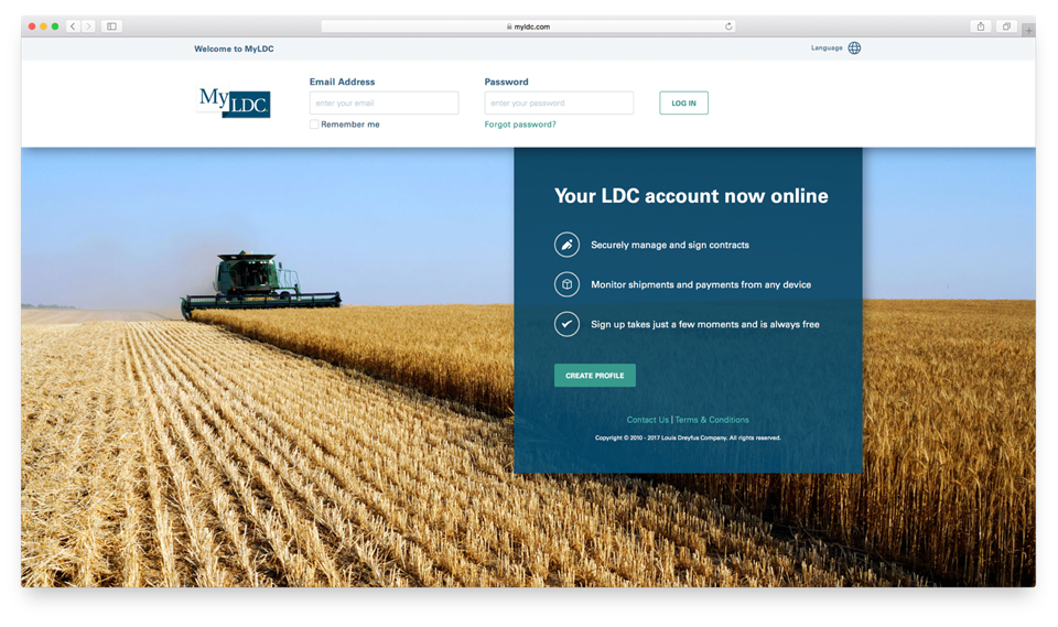 MyLDC customer web portal