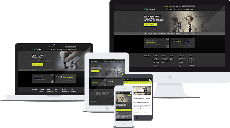 Accuvant website multi-device preview