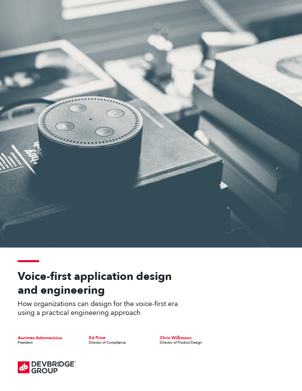 Voice-first application design and engineering