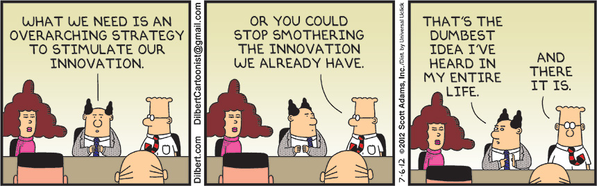 Innovation by Dilbert