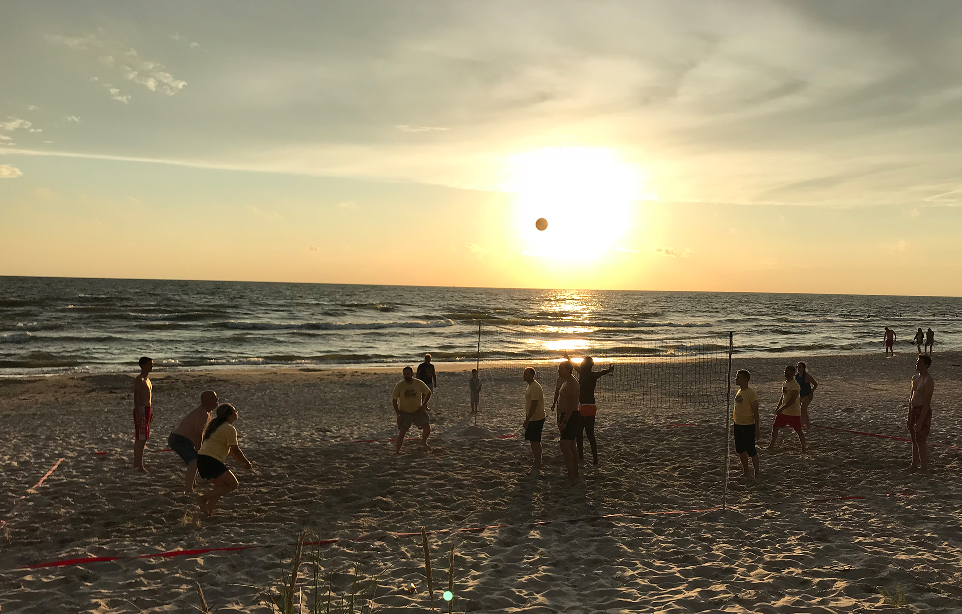 DB Summer Camp volleyball on the beach