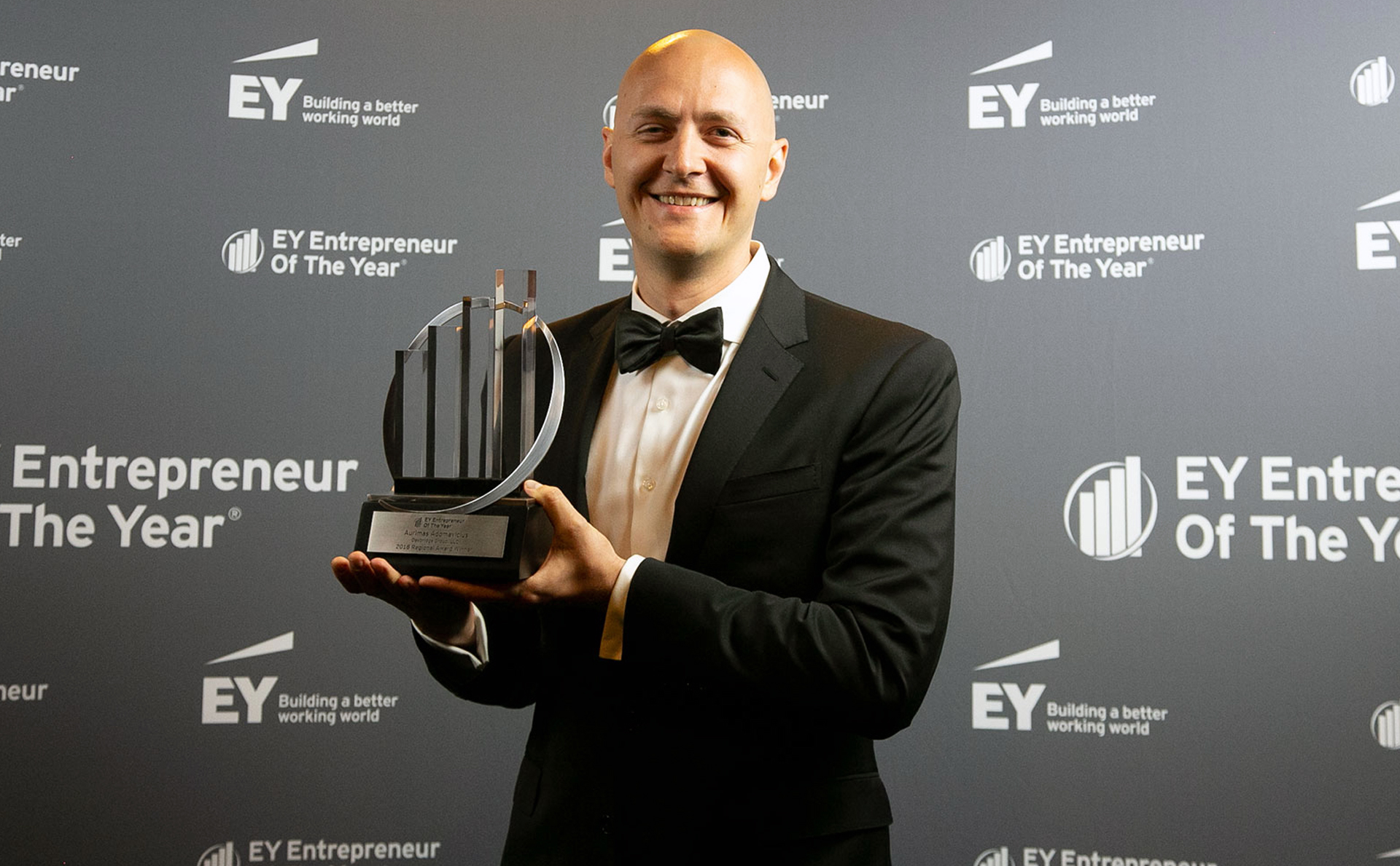 Aurimas Adomavicius wins EY Entrepreneur of the Year Award