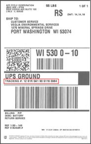 Return UPS label