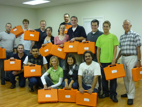 Air Cycle Corporation Employees - Recycle Lamps - Group Shot for Charity Event - Lamp Recycling and EasyPak